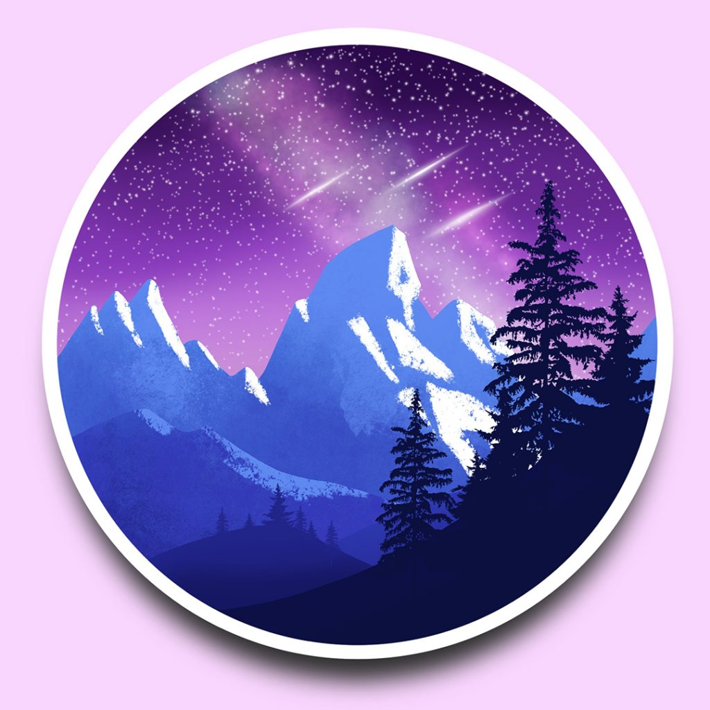 Easy Landscape Drawing Tutorial For Procreate
