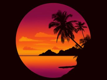 Easy Drawing Tutorial For Procreate Drawing A Tropical Sunset